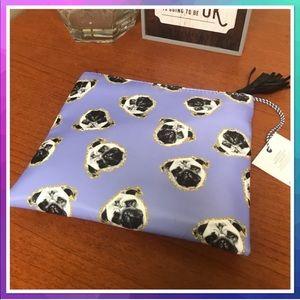Handbags - Pug Purple Makeup Bag